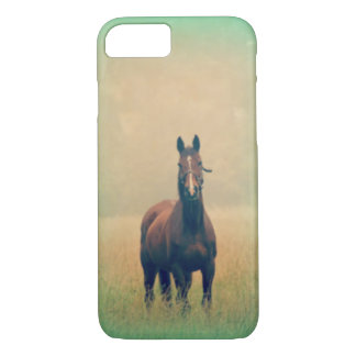 Bay Horse Standing in a Field iPhone 7 Case