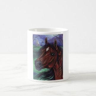 BAY HORSE White Owl Mug