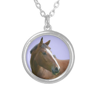 Bay Horse with Blaze Necklace