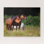 Bay horses jigsaw puzzle