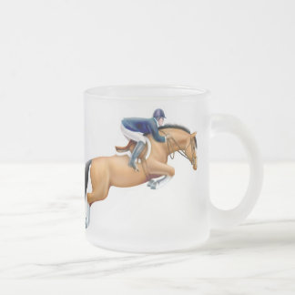 Bay Hunter Jumper Horse Frosted Mug