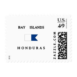 Bay Islands Honduras Alpha Dive Flag Stamps