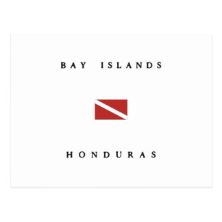 Bay Islands Honduras Scuba Dive Flag Postcard