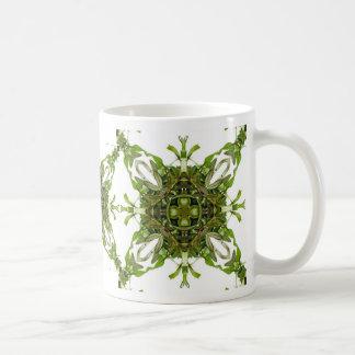 Bay leaf mandala mug