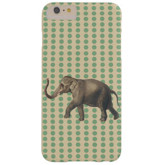 Bay Leaf Spice Moods Dots with Elephant Barely There iPhone 6 Plus Case