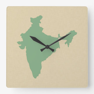 Bay Leaf Spice Moods India Square Wall Clock