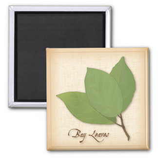 Bay Leaves 2 Inch Square Magnet