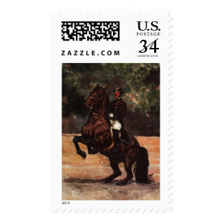 Bay Lipizzaner Levade Postage