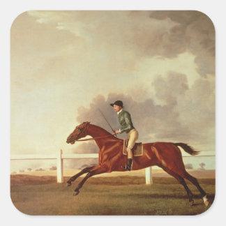 Bay Malton with John Singleton Up, c.1767 Square Sticker
