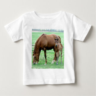 Bay Mare and Her Colt Baby T-Shirt