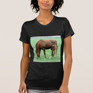 Bay Mare and Her Colt T-Shirt