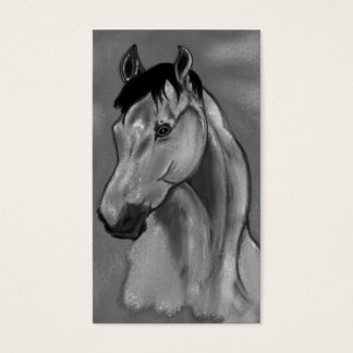bay mare  b w 2 business card