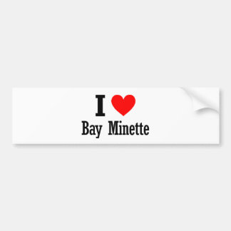 Bay Minette, Alabama City Design Bumper Sticker