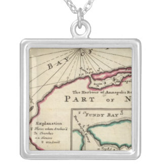 Bay of Fundy and harbour of Annapolis Royal Square Pendant Necklace