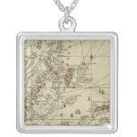 Bay of Honduras Square Pendant Necklace