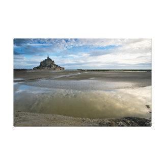 Bay of Le Mont St Michel Impresión De Lienzo