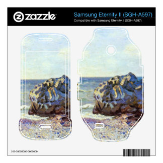 Bay of long-country with rock by Alfred Sisley Samsung Eternity II Skins