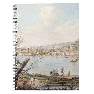 Bay of Naples from sea shore near the Maddalena Br Notebook