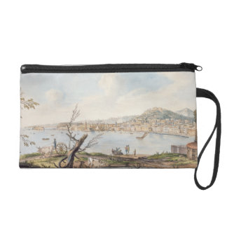 Bay of Naples from sea shore near the Maddalena Br Wristlet Purse