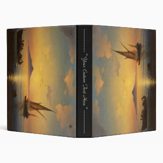 Bay of Naples Ivan Aivazovsky seascape waterscape 3 Ring Binder