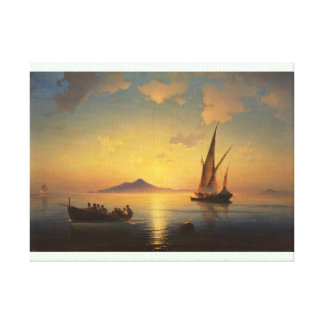 Bay of Naples Ivan Aivazovsky seascape waterscape Stretched Canvas Print
