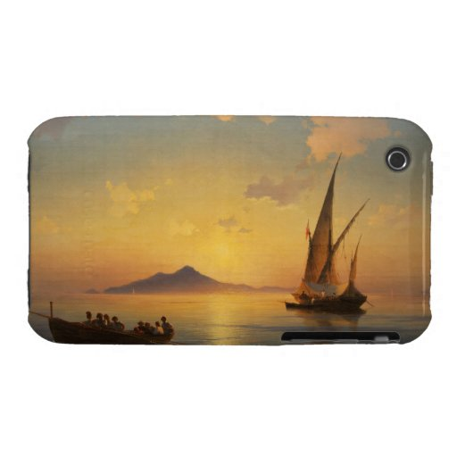 Bay of Naples Ivan Aivazovsky seascape waterscape iPhone 3 Covers