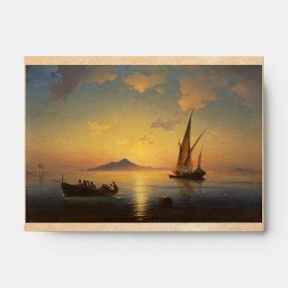 Bay of Naples Ivan Aivazovsky seascape waterscape Envelopes