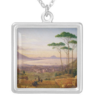 Bay of Naples Square Pendant Necklace