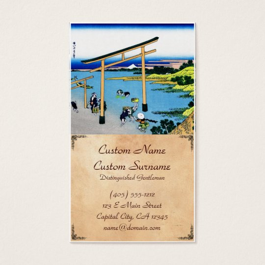 Bay of Noboto Katsushika Hokusai Fuji view Business Card
