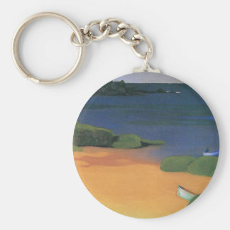 Bay of Tregastel, Vallotton, Vintage Impressionism Keychains