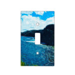Bay On The Road To Hana Maui Abstract Switch Plate Cover