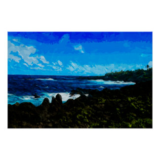 Bay On the Road to Hana Maui Abstract Posters