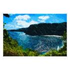 Bay On the Road to Hana Maui Hawaii Abstract Photo Print