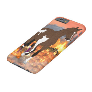 Bay Paint Horse Trotting Through Fire Barely There iPhone 6 Case