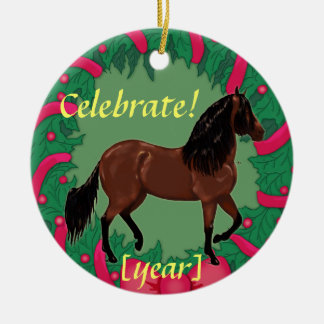 Bay Paso Fino Horse Celebrate Christmas Christmas Tree Ornament