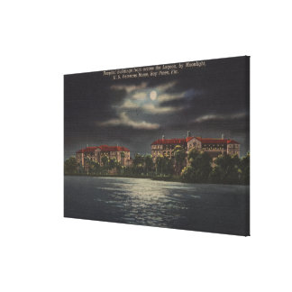 Bay Pines Florida - Moonlit View of Hospital Gallery Wrapped Canvas