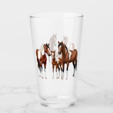 Bay Pinto Paint Quarter Horses Glass
