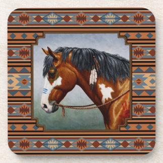 Bay Pinto War Horse Southwestern Design Drink Coaster