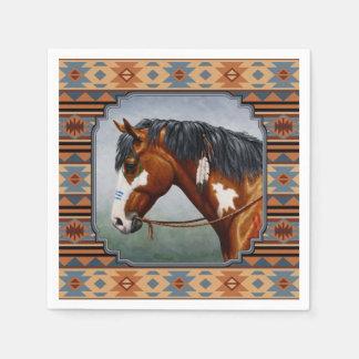 Bay Pinto War Horse Southwestern Design Napkin