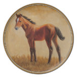 Bay Quarter Horse Foal Party Plates