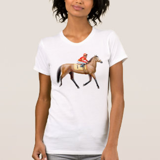 Bay Racehorse Ladies Scoop Neck Shirt