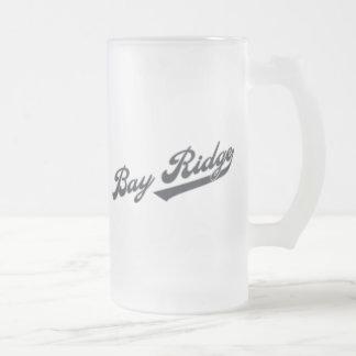 Bay Ridge Frosted Glass Beer Mug
