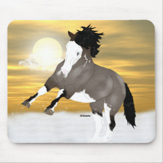 Bay Roan Overo Pinto Mustang Horse Mouse Pad