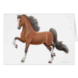 Bay Saddlebred Horse Greeting Card