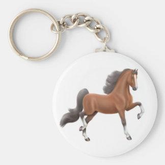 Bay Saddlebred Horse Keychain