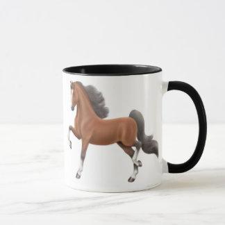 Bay Saddlebred Horse Mug