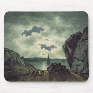 Bay Scene in Moonlight, 1787 (w/c over pencil on p Mouse Pad