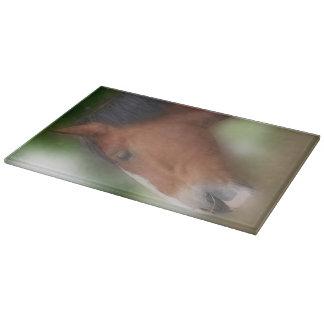 Bay Shire Draft Horse Face Animal Cutting Board