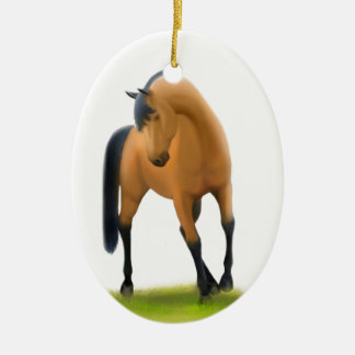 Bay Show Horse Holiday Ornament
