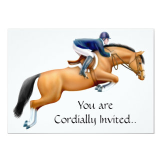 Bay Show Jumper Equestrian Horse Invitation